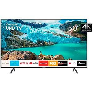 """Smart TV 4K LED 50"""" Samsung UN50RU7100 Wi-Fi - HDR 3 HDMI 2 USB - R$1899"""
