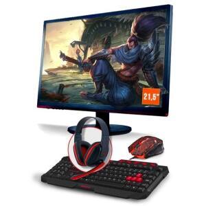 Computador Gamer SMT80507 i5 8GB Gtx 1050Ti 4GB, 1TB + Monitor 21,5 - R$3.359