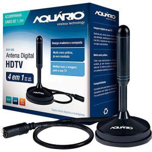 Antena Digital para TV DTV-100 VHF UHF FM e HDTV - Aquário | R$21