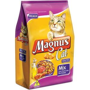 Ração Magnus Cat Mix Partículas Recheadas para Gatos Adultos | R$76