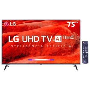 "Smart TV LED 75"" LG 75UM7510 UHD 4K HDR | R$4.844"