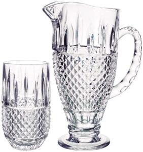 Jarra + 6 Copos Studio Crystal Transparente - R$84