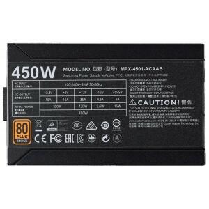 Fonte Cooler Master MWE 450w Bronze 80Plus