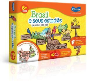 Brasil e Seus Estados Quebra Cabeça 82 Peças Toyster Brinquedos | R$29