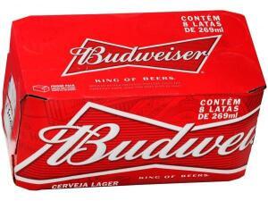 Cerveja Budweiser - Caixa 8 latas | R$20