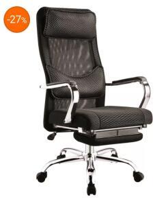 Cadeira Presidente Foshan Reclinável TH B642, Preto - R$789
