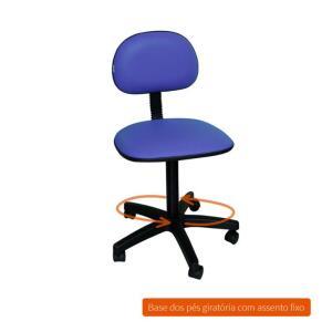 Cadeira de Escritório Secretária Giratória Direction I Azul R$ 91