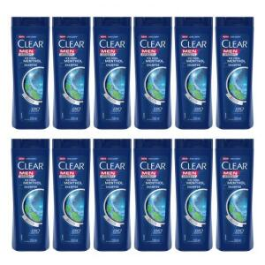 Kit com 12 Shampoo Clear Ice Cool Menthol 200ml - Incolor