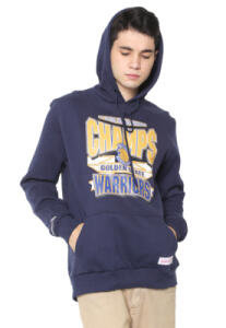 Moletom Mitchell & Ness Golden State Warriors Azul-Marinho