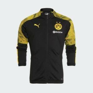 Jaqueta Puma Borussia 2019/2020 Preta Masculina Preto e Amarelo - Gaston