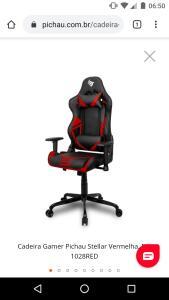 Cadeira Gamer Pichau Stellar Vermelha, BY-1028RED | R$650