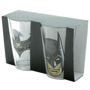 Conjunto com 2 copos de vidro 300ML BATMAN - URBAN - PRETO | R$12