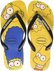 Sandália Simpsons, Havaianas, Adulto Unissex - R$28