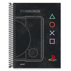 Caderno Universitário Capa Dura 10x1 200fl Playstation 20504 Spiral- R$24