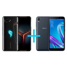 ASUS ROG Phone II 8GB/128GB Preto + Zenfone Live L2 OctaCore 435 - R$3396
