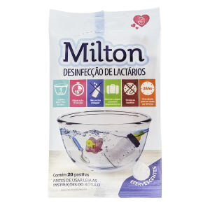 Milton para Desinfecção de Lactários 20 Pastilhas efervescentes