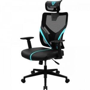 Cadeira Ergonomic Yama1 Preta/ Cyan Thunderx3