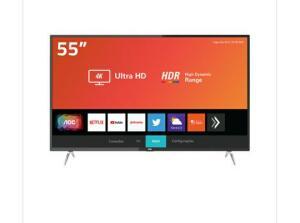 """Smart TV LED 55"""" AOC 55U6295-78G Ultra HD 4K Wi-Fi, HDR, Xmart Preta com Conversor Digital Integrado - 1999"""