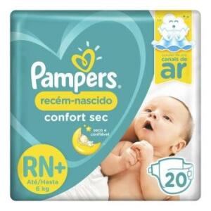 Fralda Pampers Confort Sec RN Plus 20 Unidades - até 6kg