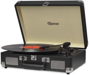 [Prime] Vitrola Chrome Black com USB e Bluetooth, Bivolt R$ 269