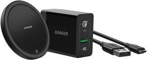 [Prime] Carregador Sem Fio Wireless, Anker PowerWave+ Pad 10W R$ 210
