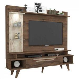 Estante Home para Tv 50 polegadas Londres Permobili Café/Rústico | R$380
