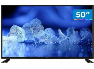 "Smart TV 4K DLED 50"" Cobia Wi-Fi-Conversor Digital 3 HDMI 2 USB"