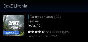 Mapa Livonia do DayZ PS4