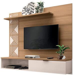 "Painel para TV Chennai até 50"" Freijó/Off White | R$ 390"