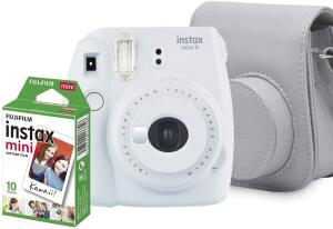 Kit Câmera Instantânea Fujifilm Instax Mini 9 - Branco Gelo | R$ 329