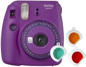 Câmera Instantânea Fujifilm Instax Mini 9 - Roxo + 3 filtros   R$ 279