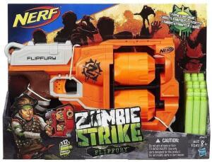 [Prime] Lança Dardo Nerf Zombie Flipfury Hasbro Laranja R$ 80