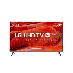 "Smart TV LED 50"" LG UM7510 Ultra HD 4K HDR Ativo, DTS Virtual X, Inteligência Artificial, ThinQ AI, WebOS 4.5"
