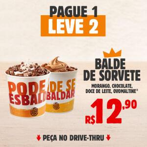 2 Baldes de Sorvete por R$12,90