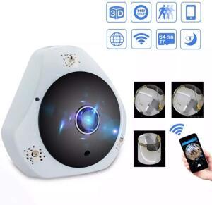 Mini Câmera Panorâmica Segurança 3d Wi-fi 360º Sensor | R$ 112