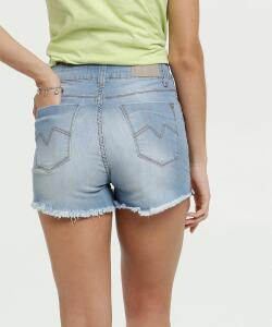 Short Feminino Barra Desfiada Zune Jeans By Sabrina Sato