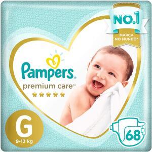 Fralda Pampers Premium Care G - 68 Unidades - R$68