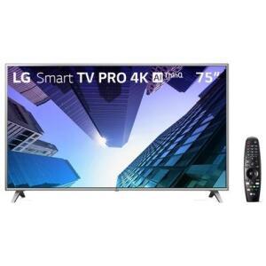 "Smart TV LED 75"" Ultra HD 4K LG 75UM751C PRO 120HZ + Smart Magic | R$5.415"