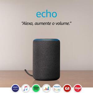 Echo (3ª geração) - Smart Speaker com Alexa - Cor Preta | FRETE PRIME
