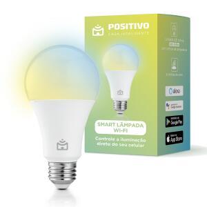 Smart Lampada Wi-Fi Positivo Casa Inteligente LED 10W Branco Bivolt