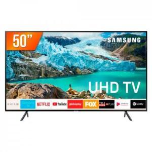 """Smart TV LED 50"""" Ultra HD 4K Samsung RU7100 3 HDMI 2 USB Wi-Fi iTunes R$1.766"""