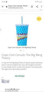 Copo bazinga com canudo | R$3