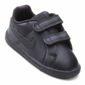 [APP] Tênis Infantil Couro Nike Court Royale Sl Masculino - Preto   R$ 47