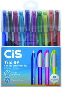[PRIME] Caneta Esferográfica Trio Bp 10 Cores, CIS   R$ 15