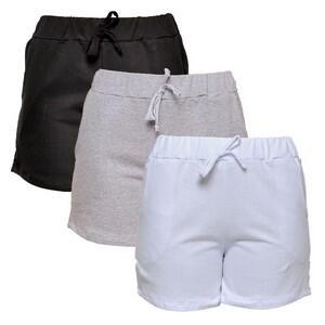 Kit com 3 Shorts de Moletim Style Feminino - R$ 70