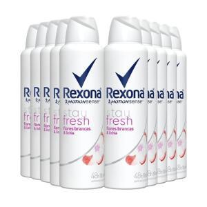 Desodorante Aerosol Rexona 90g - 10 unidades - R$71