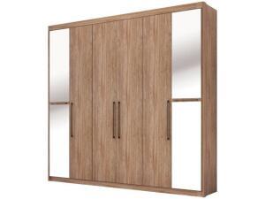 Guarda-roupa Casal com Espelho 6 Portas Demóbile New Metropole R$ 759