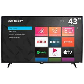 "AOC Roku TV Smart TV LED 43"" 43S5195/78 com Wi-fi - R$1169"