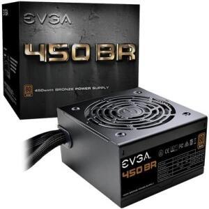Fonte EVGA 450W, 80 Plus Bronze - 100-BR-0450-K | R$219