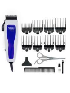 Máquina de Cortar Cabelo Wahl Home Cut Basic 9155 com 8 Pentes - Cinza/Azul   R$56